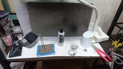 塗装ブースの室内排気を実験してみる