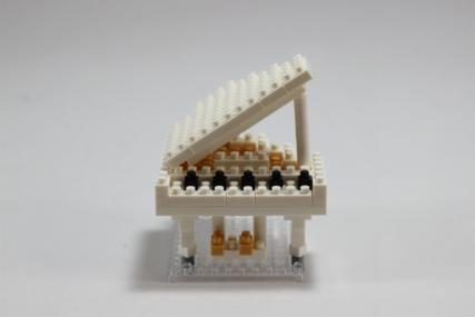 nanoblock グランドピアノホワイト8
