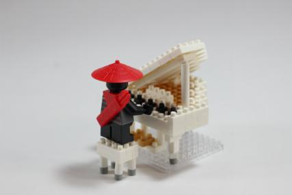 nanoblock グランドピアノホワイト12