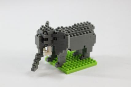 nanoblock アフリカゾウ12
