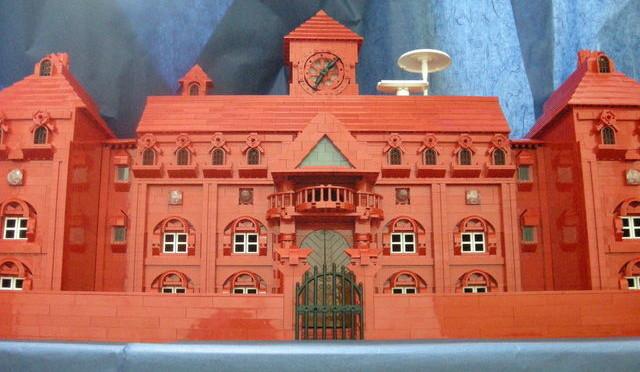 レゴで作った紅魔館。
